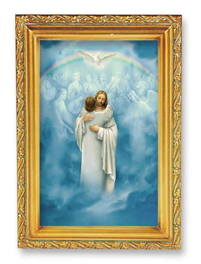 Christ Welcoming Home in an Antique Gold Frame