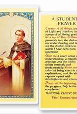 A Student's Prayer Holy Card