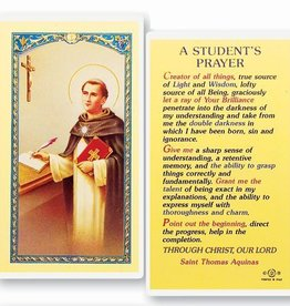A Student's Prayer Holy Card