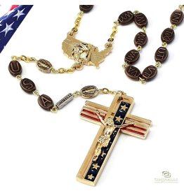Ghirelli The USA Rosary in Gold Finish