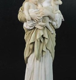 "Goldscheider of Vienna 11.75"" L'Innocence Hand Painted Statue Mary"