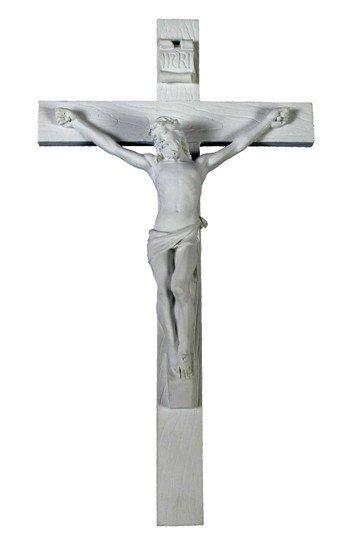 """Goldscheider of Vienna 10"""" White Crucifix"""