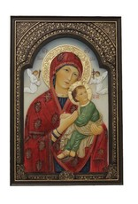 Goldscheider of Vienna 6x9 Our Lady of Perpetual Help Plaque