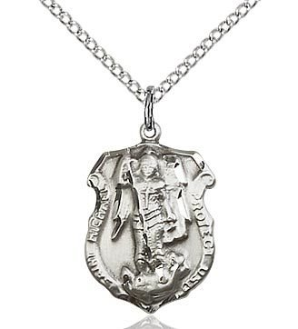 Bliss manufacturing sterling silver st michael the archangel bliss manufacturing sterling silver st michael the archangel pendant on 20 inch stainless silver chain aloadofball Gallery