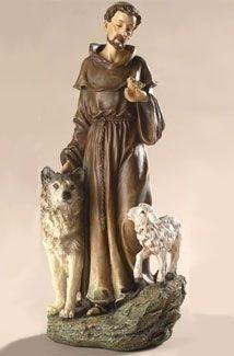 "9.75"" St. Francis Statue"