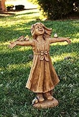 "24"" ""JOY"" Girl Rejoicing Statue"