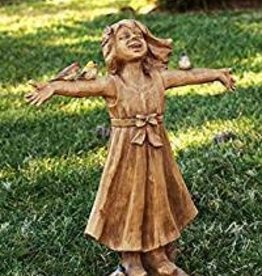 "24"" ""JOY"" Girl Rejoicing Statue"