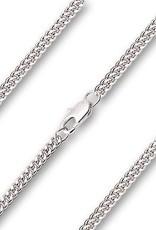 """Bliss Manufacturing 18"""" Rhodium Curb Chain"""