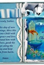 Blue Baptism Holy Water Bottle
