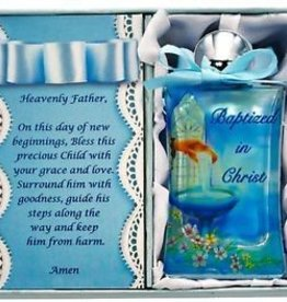 Blue Baptism Holy Water Bottle