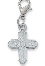 4 way Holy SpirIt Clippable Charm silver color rhodium finish