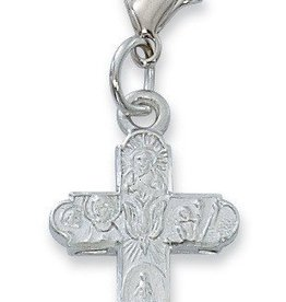 McVan 4 way Holy SpirIt Clippable Charm silver color rhodium finish