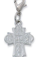 4 Way Clippable Charm silver color rhodium finish