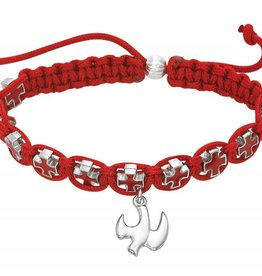 Red Cross Rope Holy Spirit Bracelet