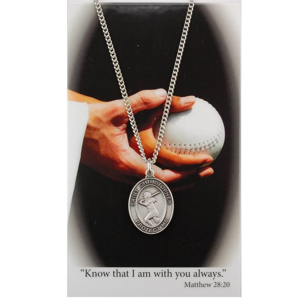 Girls Softball Prayer Card Set