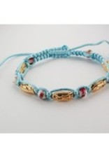 Details about  Our Lady of Guadalupe Adjustable Aqua Cord Bracelet