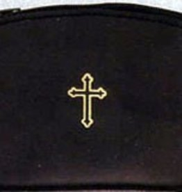 Catholic Leather Zip up Case Rosary Pouch