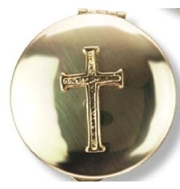 Religious Art Inc Brass Cross Pyx (Size 2, 12-15 Hosts)