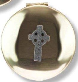 Religious Art Inc Brass Celtic Cross Pyx (Size 2, 12-15 Hosts)