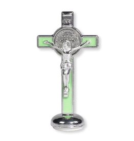 Christian Brands Luminous St. Benedict Enamel Stand