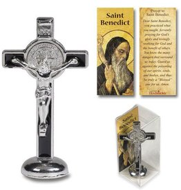 Sacred Traditions Black St Benedict Enamel Stand