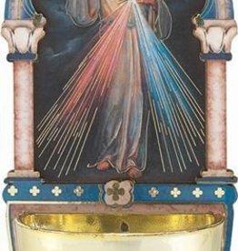 "WJ Hirten 5"" Divine Mercy Holy Water Font"