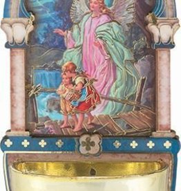 """5"""" Guardian Angel Holy Water Font"""