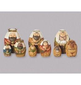 "Roman, Inc 9 piece 6"" Nesting Nativity"