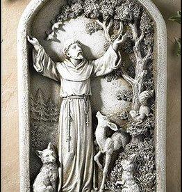 Saint  Francis Plaque Stoneresin FBA