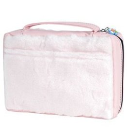 Large Pink Fur Bible Case
