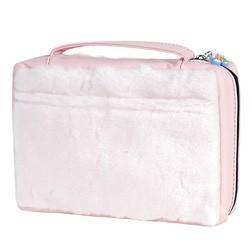 Large Pink Fur Bible Case