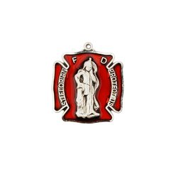 """Sterling Silver St. Florian Badge with 24"""" Chain"""
