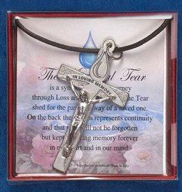 Lumen Mundi The Tear of Memorial Tear Cross Necklace
