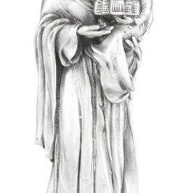 "WJ Hirten 4 1/2"" St. Joseph Fine Pewter Statue on a Majestic Gold Tone Base"