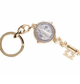 St. Benedict Gold Key Chain