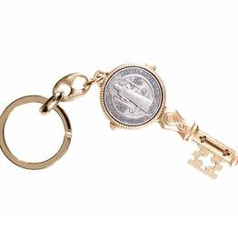 WJ Hirten St. Benedict Gold Key Chain