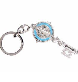WJ Hirten St. Benedict Enameled Key Chain