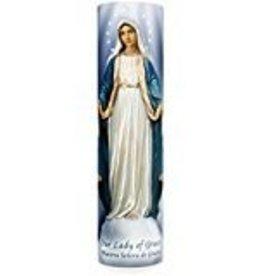 Lady of Grace LED Candle