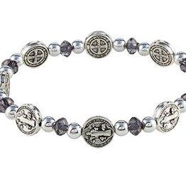 St. Benedict Black Medals Stretch Bracelet