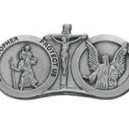 McVan St. Christopher/Guardian Angel Visor Clip