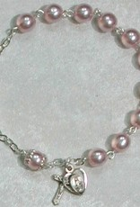 Adult Pink Pearl Bracelet