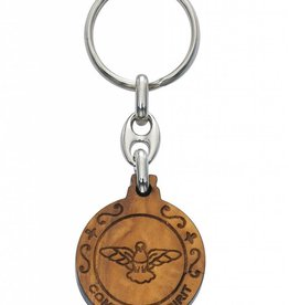 Olive Wood Seven Gifts of the Holy Spirit Key Chain