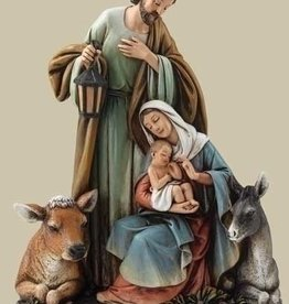 "7.5"" Holy Family Figure with Animals"