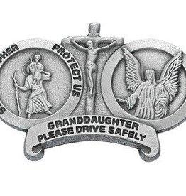 St. Christopher Granddaughter Visor Clip
