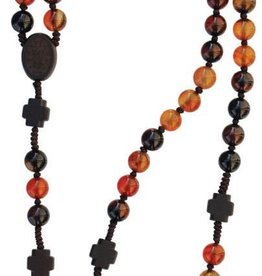 Sine Cerra Agate and Jujube Wood Rosary