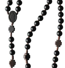 Sine Cera Black Onyx and Jujube Wood Rosary