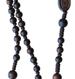 Sine Cerra Dark Jujube Wood Rosary (6mm)