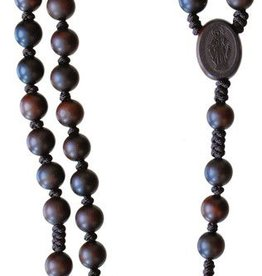 Sine Cerra Dark Jujube Wood Rosary (8mm)