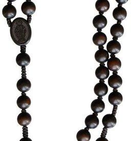 Sine Cera Dark Jujube Wood Rosary (10mm)