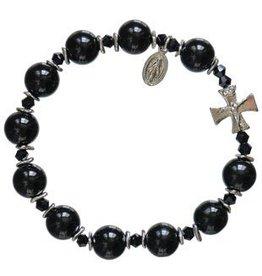 Sine Cera Black Onyx Rosary Bracelet (10mm)